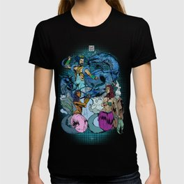 Neptunian Prince Kami no Ōwatatsumi Ryujin and His Maidens T-shirt
