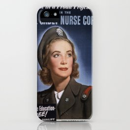 Vintage poster - U.S. Cadet Nurse Corps iPhone Case