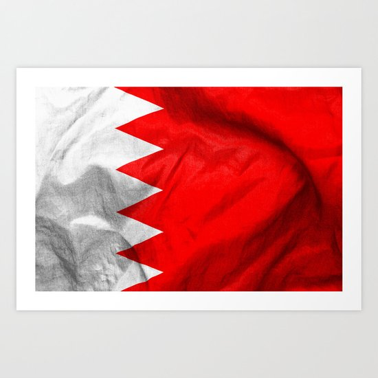 Bahrain Flag Art Print