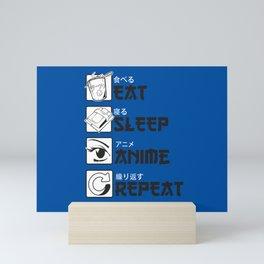 Eat Sleep Anime Mini Art Print