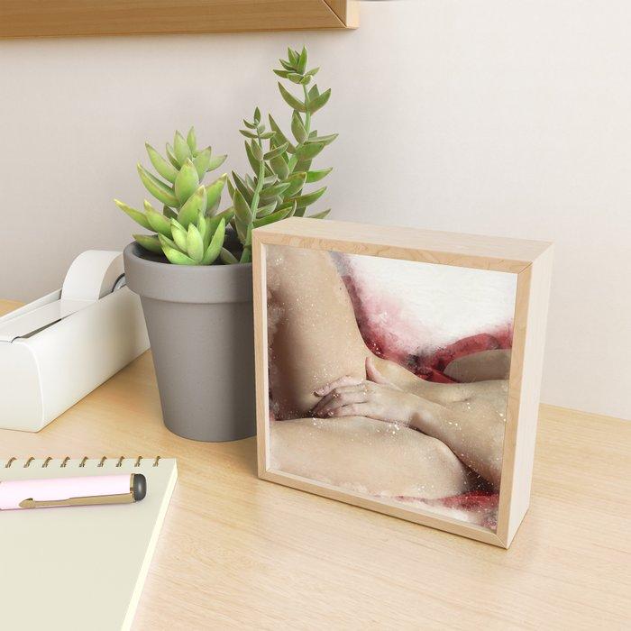 Lying On The Bed Framed Mini Art Print