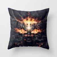 diablo Throw Pillows featuring Diablo by dracorubio