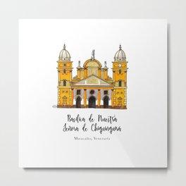 Basilica de Nuestra Senora de Chiquinquira Metal Print