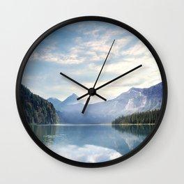 Wanderlust - Mountains, Lake, Forest Wall Clock
