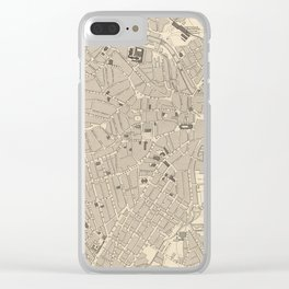 Vintage Map of Sheffield England (1851) Clear iPhone Case