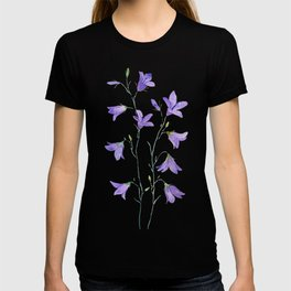 purple wildflower harebell watercolor T-shirt