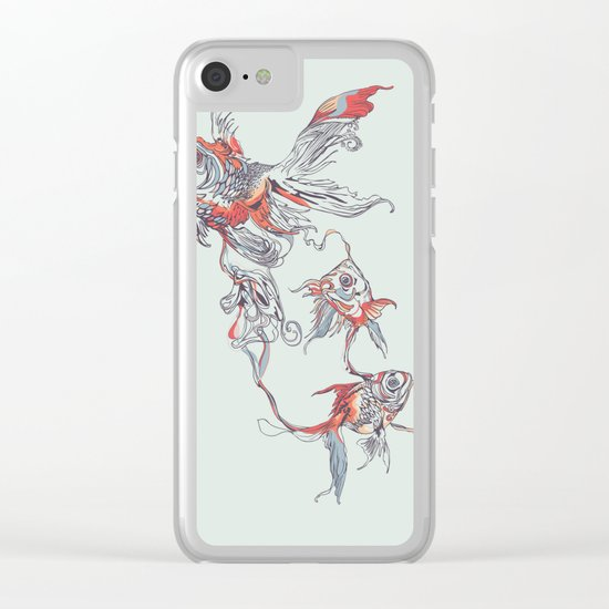 Floating in Deep Clear iPhone Case