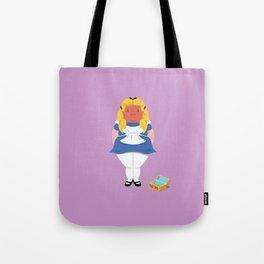 Alice in worriedland Tote Bag