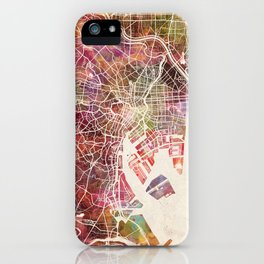 Tokyo map iPhone Case
