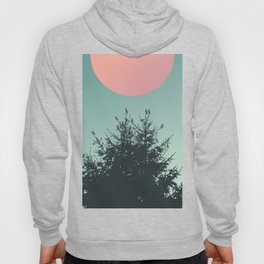 Pine tree and birds Hoody