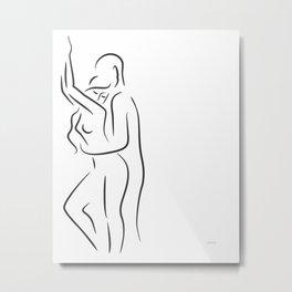Erotic art. Minimalist sex illustration. Metal Print