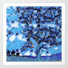 Plum Tree Hills Art Print