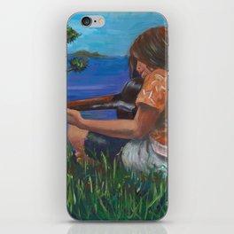 Playing ukulele iPhone Skin