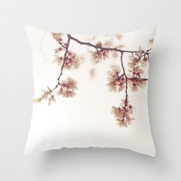 spring cherryblossom Throw Pillow
