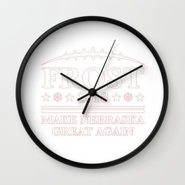 frost make nebraska Wall Clock