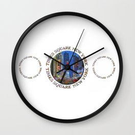 Times Square New York Triple Emblem (on white) Wall Clock