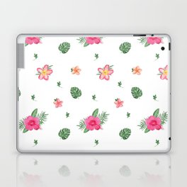 Pretty Pink Tropical Flower Patten Laptop & iPad Skin