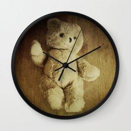 Old Teddy Bear Wall Clock