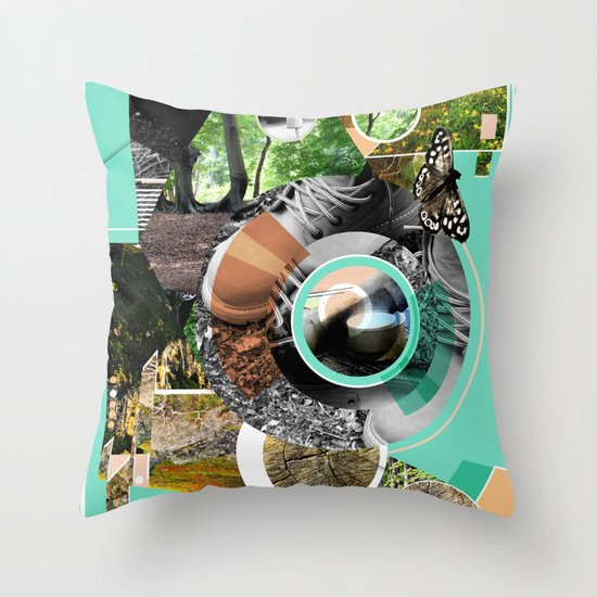 A walk in  the park. Throw Pillow