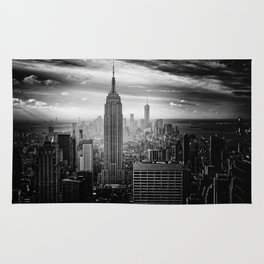 Empire State Building (Black and White) Rug