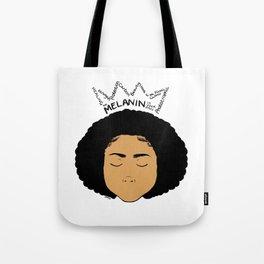 Melanin Crown - Girl 5 - Digital Illustration - Afro Tote Bag