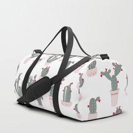 Love in the Desert Cacti Pattern Duffle Bag