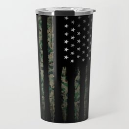 Khaki american flag Travel Mug