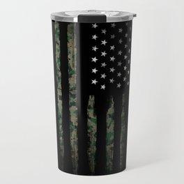 Khaki american flag Travel Mug