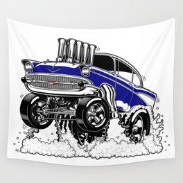 57 Gasser REV-3 BLUE Wall Tapestry