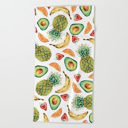 Crazy About Fruit Beach Towel