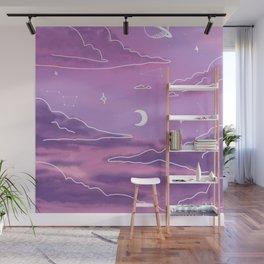 Purple Sunset View Wall Mural