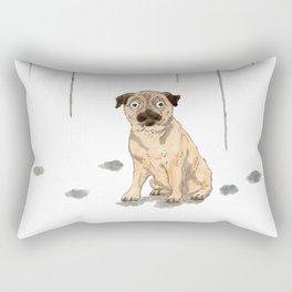 Pug with balloons Rectangular Pillow