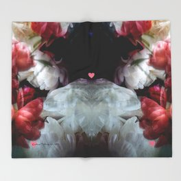 The edge of love Throw Blanket