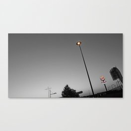 paris urban sky black and white with color Canvas Print