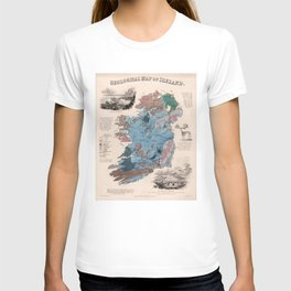 Vintage Geological Map of Ireland (1850) T-shirt