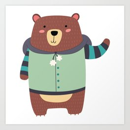 Woodland Bear Art Print
