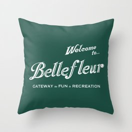 Welcome to Bellefleur Throw Pillow