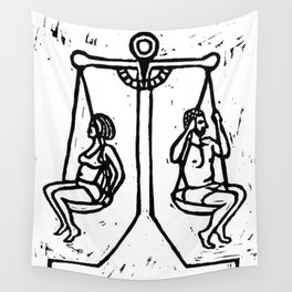 Balancing the Sexes Wall Tapestry