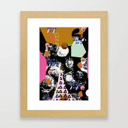 Spiralling out of control Framed Art Print