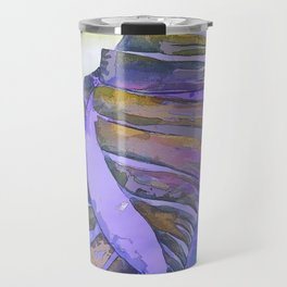 NAUTILUS CONCH SEA SHELL PURPLE IMPRESSIONS Travel Mug