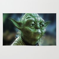 yoda Area & Throw Rugs featuring Yoda by Tami Cudahy
