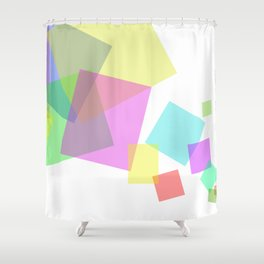 Rectangles flux - Vector Shower Curtain