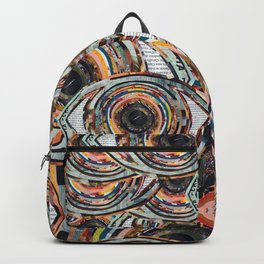Rainbow Eyes Collage Backpack