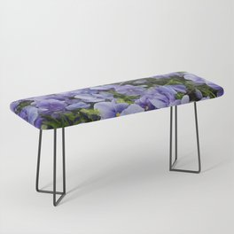 Pansy flower Bench