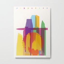 Shapes of Singapore. Metal Print