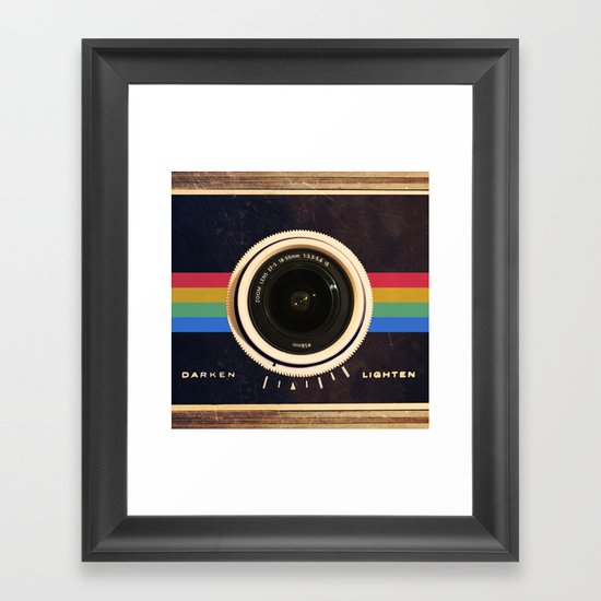 Modern Vintage inspired Camera! Framed Art Print