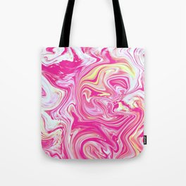 WHIRLING PINK AND GOLD Tote Bag