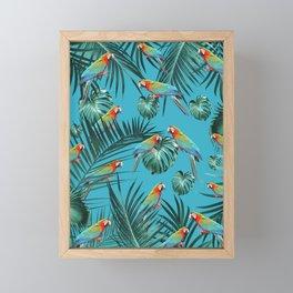 Parrots in the Tropical Jungle #1 #tropical #decor #art #society6 Framed Mini Art Print