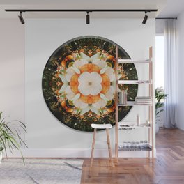 4 Point Mandala - Pumpkins Wall Mural
