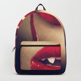 Halloween Female Vampire Vampiress Fangs Close Up Ultra HD Backpack
